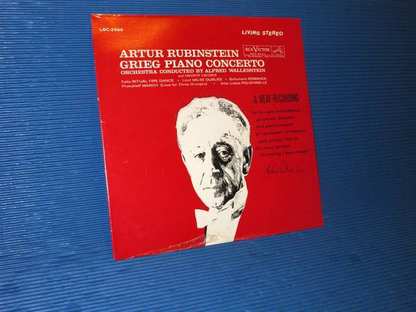 "GRIEG/Rubinstein - - ""Piano Concerto & Encores"" -  RCA 1962? TAS Sealed"