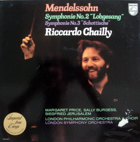 Philips /CHAILLY, - Mendelssohn Symphonies No.2 & 3, MINT, 2LP Promo Box Set!