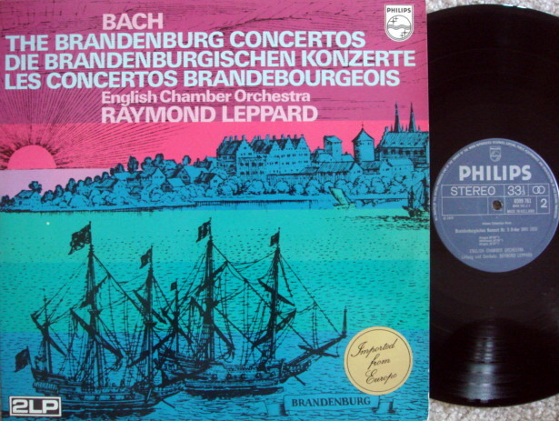 Philips / LEPPARD, - Bach 6 Brandenburg Concertos, MINT, 2 LP Set!