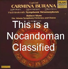 TELARC SIGNED ROBERT SHAW LP - ORFF CARMINA BURANA HINDEMITH 2 LP SET FREE SHIPPING IN U.S.