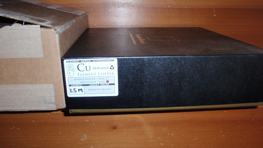 Synergistic Research Element Copper 1.5meter XLR 2012 latest, best buy!!!!!