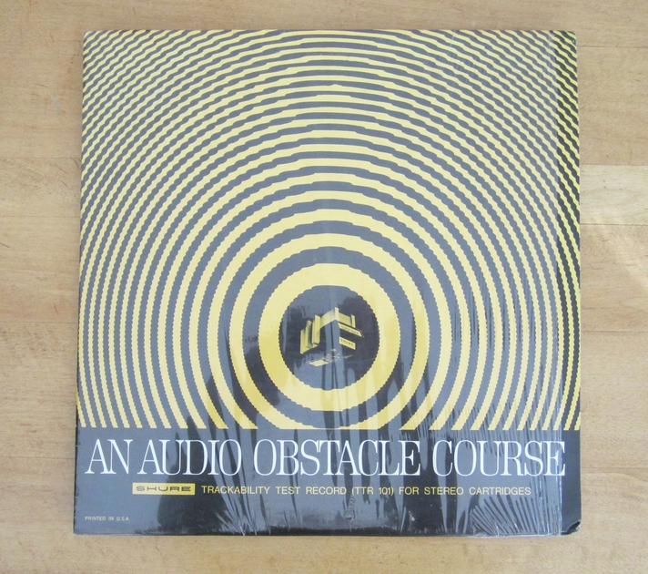 Shure Test LP- Audio Obstacle Course - for stereo cartridges best LP for setting anti-skate a must have