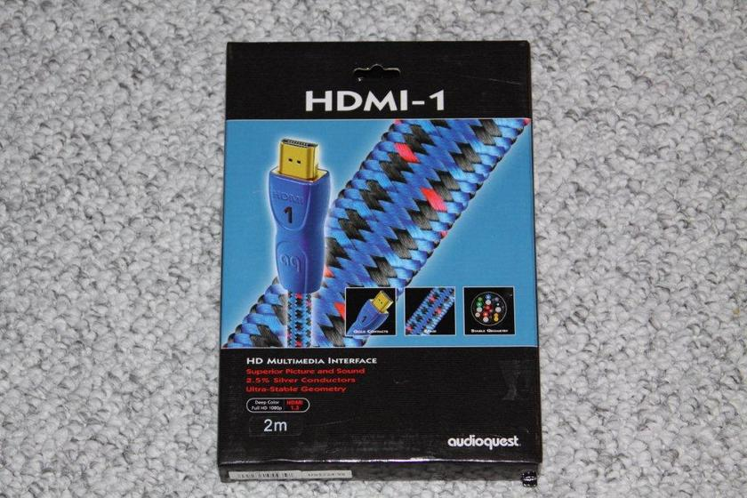 Audioquest HDMI-1 in a 2 meter length cable,  New in the original box, solid 2.5% Silver Wire, HDMI