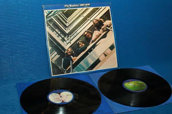"""THE BEATLES -  - """"Blue Album 67-70"""" -  Apple 1973 'blue labels' Original"""