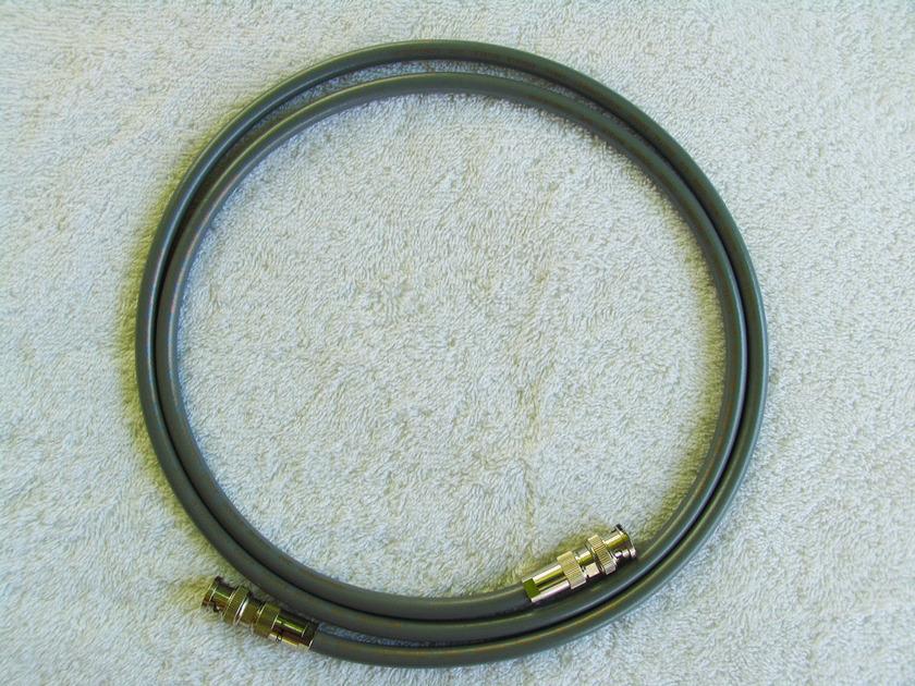 VH Audio Digital BNC BNC 75 Ohm cable Furutech custom Neotech NEVD- OFC  twin core 1.5 metre pair