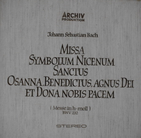 1st Press Archive / RICHTER, - Bach Mass in B Minor, MINT, 3LP Box Set!