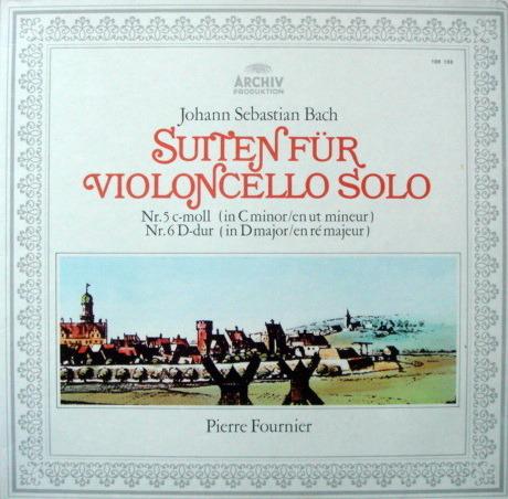 Archiv / FOURNIER, - Bach Suites for Cello Solo No.5 & 6, MINT!