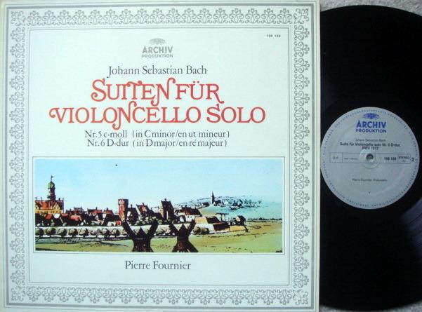 Archiv / FOURNIER, - Bach Suites for Cello Solo No.5 & 6, NM-!