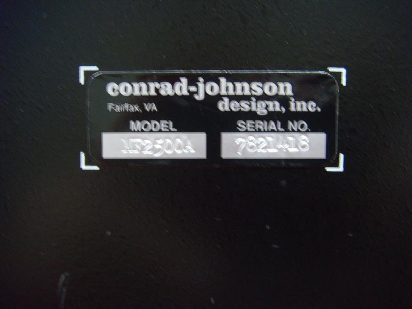 CONRAD-JOHNSON MF-2500A BIG SS POWER/ TUBE SOUND