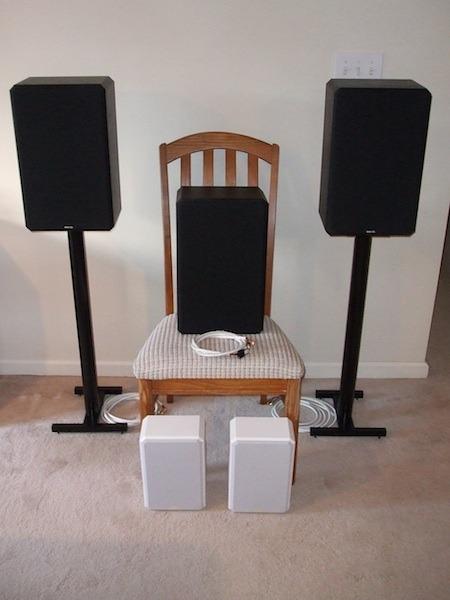 Boston Acoustics 5X5x THX L/C/R + L/R Surround + L/R Stands