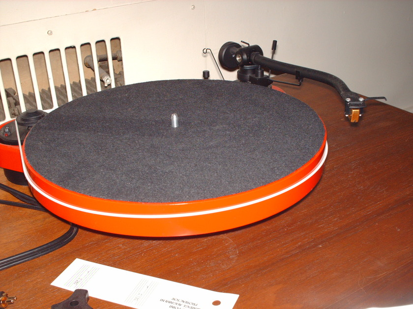 Pro-Ject RM-1.3 Genie turntable in red without stylus