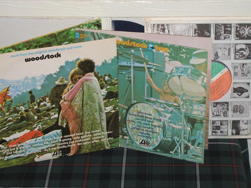 Hendrix/Santana/Who - Woodstock Vol 1&2 (Pics) GERMAN Import 3&2 LP sets.