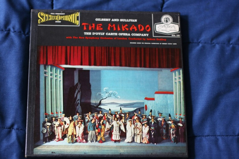 The Mikado - Gilbert and Sullivan   London OSA 1201   FFSS   Blue Back