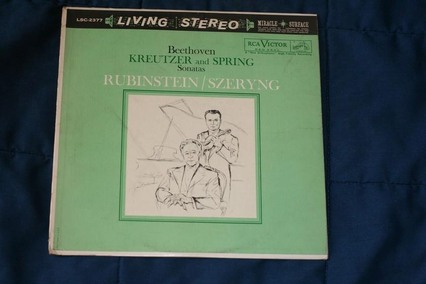 Rubinstein/Szeryng - Beethoven Kreutzer and Spring RCA Victor LSC-2377