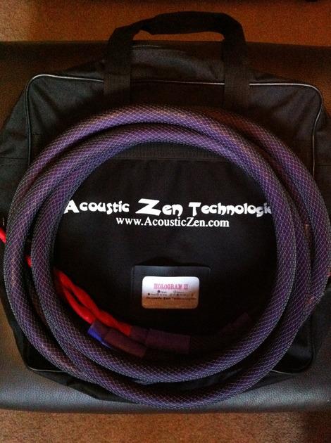Acoustic Zen  Hologram II 8ft spade to spade Free shipping