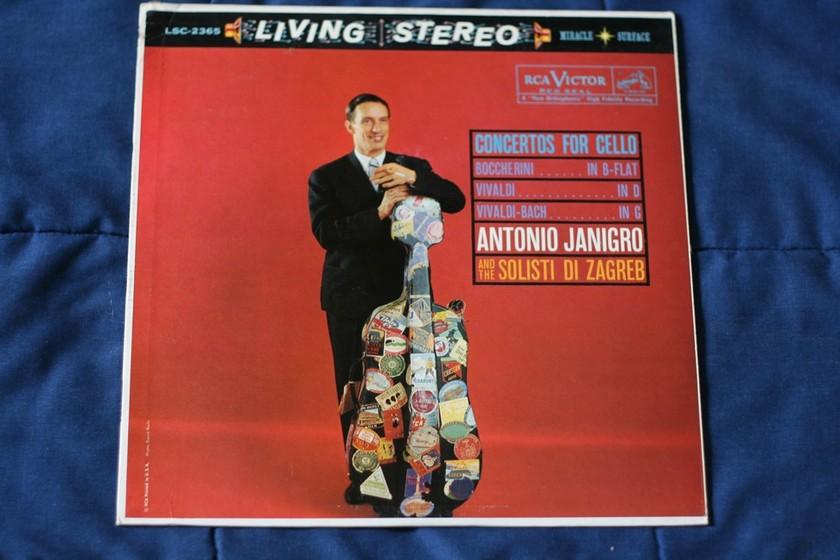 Antonio Janigro and the Solisti Di Zagreb - Concertos for Cello Boccherini- In B-Flat  LSC 2365