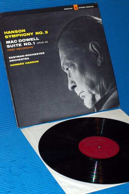 "HANSON/Hanson -  - ""Symphony No.3"" -  Mercury Living Presence 1964 Early Pressing"