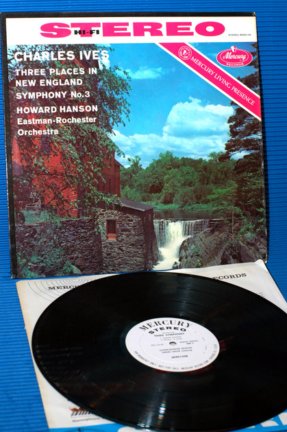 """IVES/Hanson -  - """"3 Places In New England"""" -  Mercury Living Presence Promo 1959 Rare"""