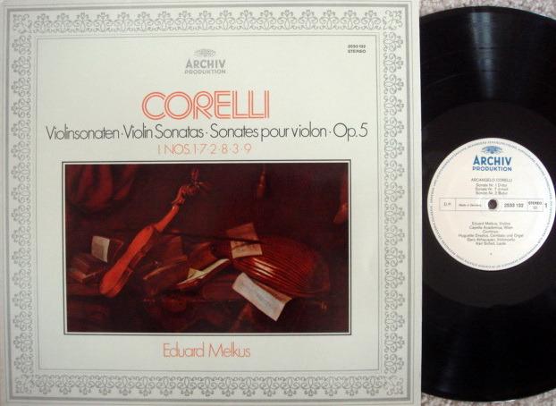 Archiv / MELKUS, - Corelli Violin Sonatas, MINT!