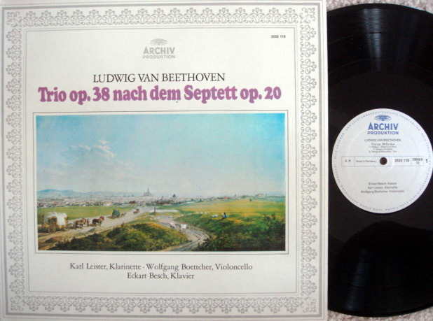 Archiv / LEISTER, - Beethoven Trio op.38, MINT!