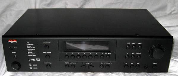 Adcom Gtp-760 preamplifier processor 5.1 direct in dd dts