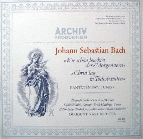 1st Press Archiv / RICHTER, - Bach Cantatas BWV.1& 4, MINT!