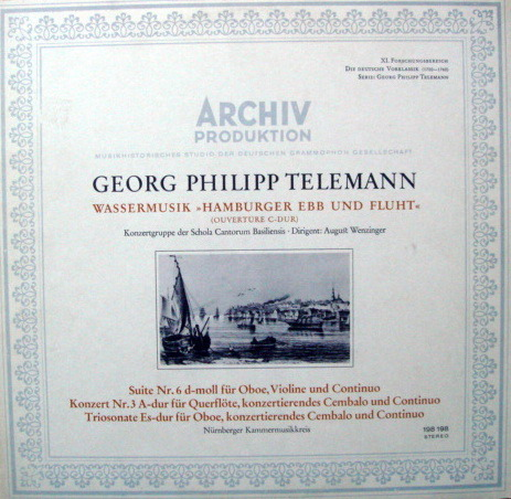 1st Press Archiv / NK, - Telemann Overture in C, Suite No.6, MINT!