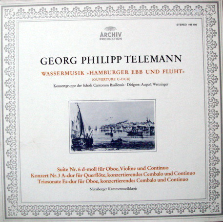 Archiv / NK, - Telemann Overture in C, Suite No.6, MINT!