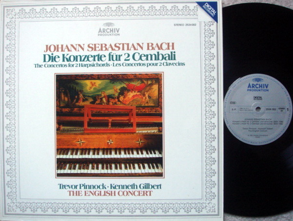 Archiv Digital / PINNOCK, - Bach Concertos for 2 Harpsichords, MINT!