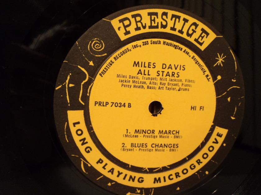 Miles Davis and Milt Jackson - Quintet / Sextet Prestige PRLP 7034 rare LP