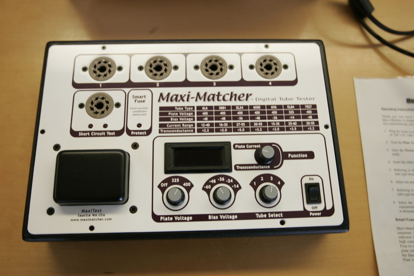 MaxiMatcher Digital Tube Tester