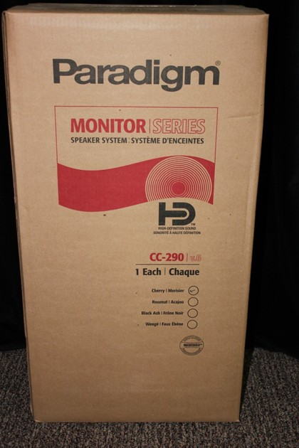 Paradigm CC-290 v6 Cherry center channel new closeout
