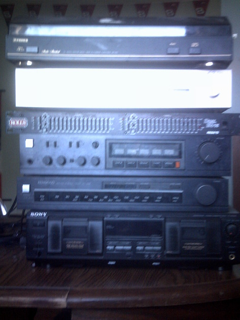 marantz,rolls,kenwood,sony,fisher 2 turners,1amp,1tape deck,1 record player make offER