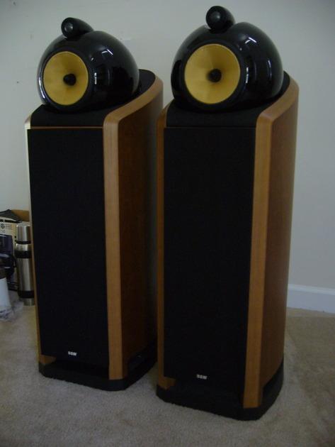 Bowers & Wilkins B&W Nautilus 802 Speakers in Cherry