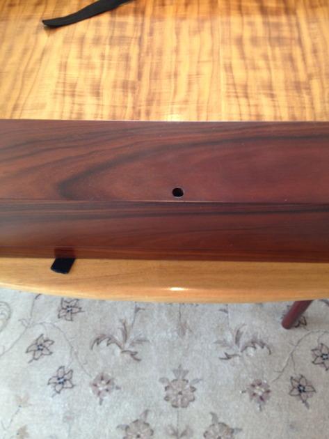 Era Designs, Sona Designs, Peachtree Audio: Credenza & TV Frame (matches the veneer of their speakers)
