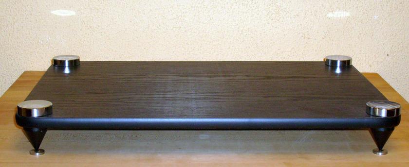 Target Amplifier Stand Black Wood Shelf, New
