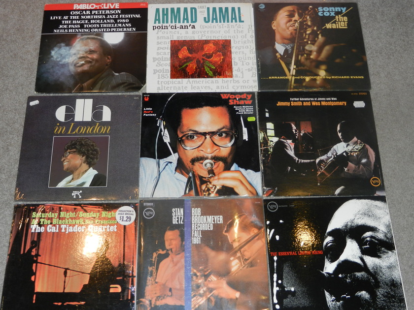 10 Jazz LP lot Fitzerald Peterson Getz  - Verve Lester Young Sonny Cox Jimmy Smith Wes Montgomery  All Mint/sealed