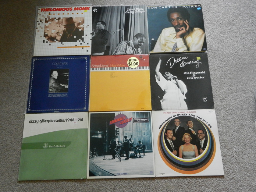 9 Jazz LP lot Gillespie Peterson Ahmad Jamal - Thelonious Monk FITZGERALD Carter All Mint/sealed
