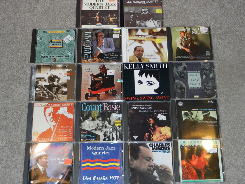 18 CDs Jazz Monk MJQ Mingus - Morgan Ahmad Jamal Vaughan Lee Morgan All Mint/sealed