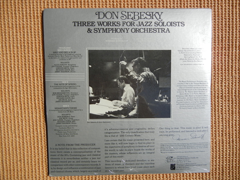 Don Sebesky - (Sealed) 2 record set Three Works for Jazz
