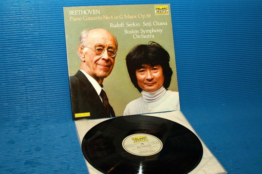 "BEETHOVEN/Serkin/Ozawa - - ""Piano Concerto No.4"" - Telarc German Import 1982"
