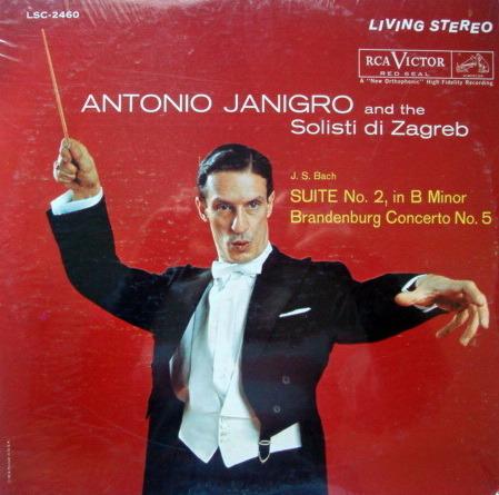 ★Sealed★ RCA LIVING STEREO / JANIGRO, - Bach Suite and Brandeburg Concerto, Original!