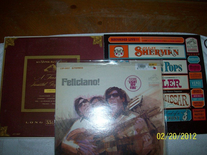 """RCA Red Seal Records - Allen Sherman """"Peter The Great"""" and """"A Treasury of Immortal Performances - Caruso"""""""