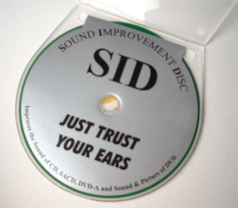 SID  CD and DVD mat - sound improvement disc  from Germany