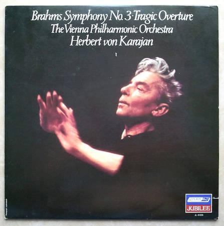 London ffrr/Karajan/Brahms - Symphony No.3, Tragic Overture / NM