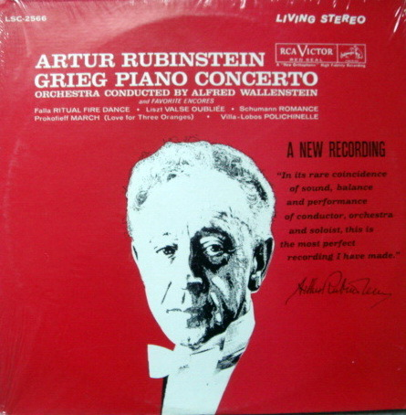 ★Sealed★ RCA LIVING STEREO / RUBINSTEIN, - Grieg Piano Concerto, Original!