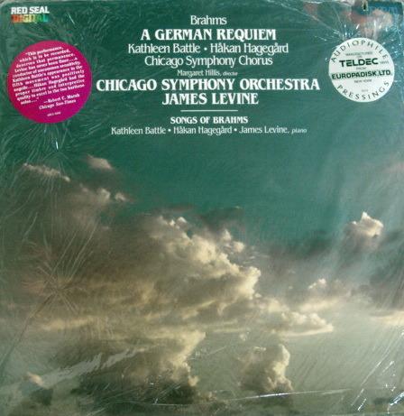 ★Sealed Audiophile★ RCA Red-Seal / LEVINE, - Brahms A German Requiem,  2LP Set!