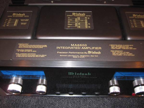 Mcintosh ma 6600 low hours with box