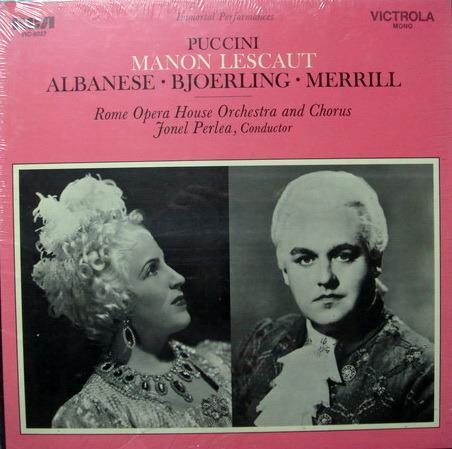 ★Sealed★ RCA Victrola / BJOERLING-PERLEA, - Puccini Manon Lescaut, 2LP Box Set!