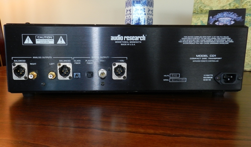Audio Research CD One CD Player Black, Exlt Condition